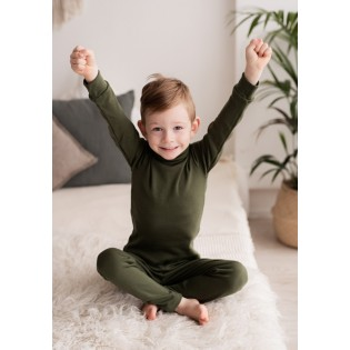 Childrens base layer with high neck