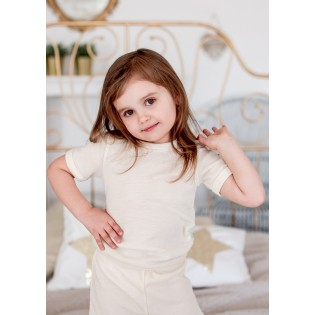 Childrens t-shirt with silk